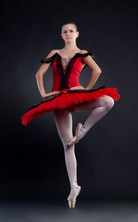 beautiful ballerina dance ballet dance , studio shot Stock Photo - 7735605