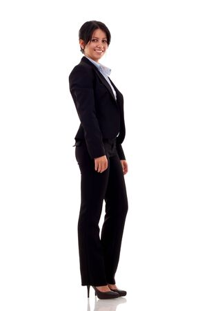 Portrait of a young confident business woman on white background Stock Photo - 7735647