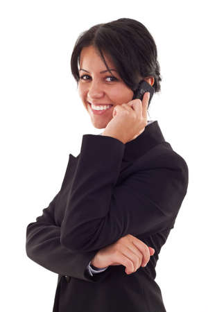 Business woman speaking on the phone. Isolated on the white background Stock Photo - 7735859