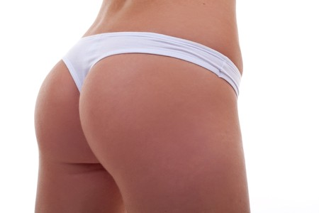 woman back in panties on white background  Stock Photo - 7735865