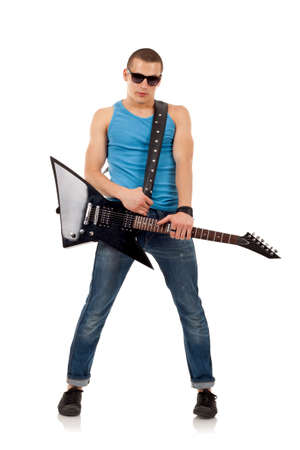rockstar: Rock star standing cool on a white background