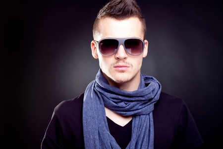 Fashion boy in sunglasses Stock Photo