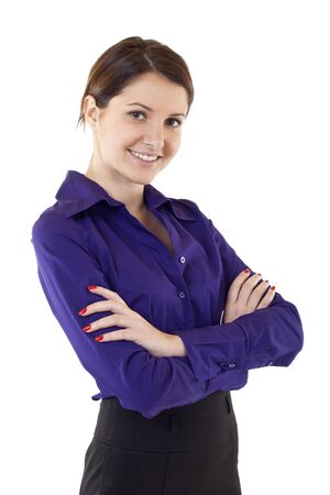 attractive business woman standing on a white background Stock Photo - 8850321