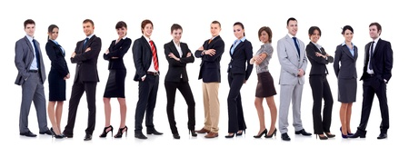 happy business team, isolated on white background Stock Photo - 10933825