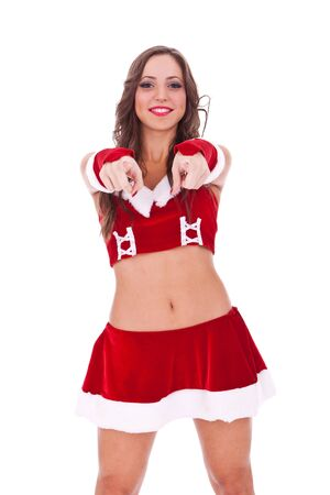 holydays: sexy santa choosing you to be her help for holydays
