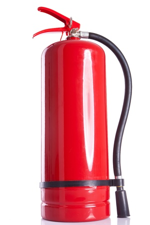 extinguisher: picture of a fire  extinguisher on white background Stock Photo