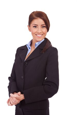 Smiling business woman. Isolated over white background Stock Photo - 13986575