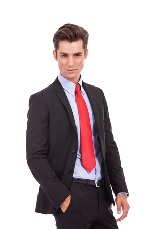 serious fashion business man looking at the camera on white background Stock Photo - 15719678