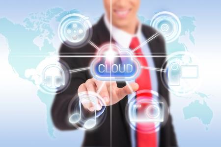 futuristic display: Cloud computing touchscreen interface Stock Photo - 17825519