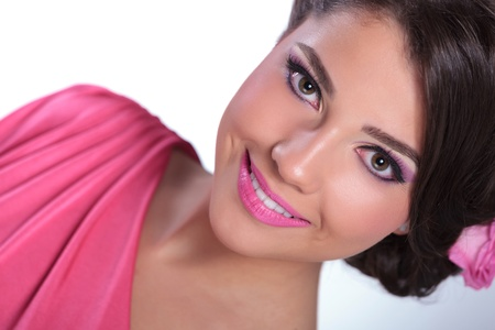 closeup of beauty woman smiling at you Stock Photo - 20677319