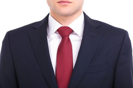 uomo rosso: Primo piano immagine di un giovane uomo d'affari spalle.