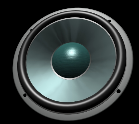 Speaker - user define, can be customised, can be png, created in 3dsmax Stock Photo - 24639758