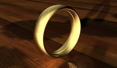 Ring, can be customised, can be png, created in 3dsmax Stock Photo - 24636106