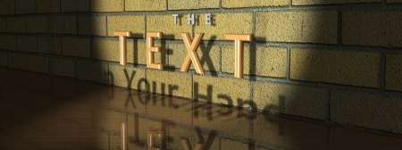 text wall, can be customised, can be png, created in 3dsmax Stock Photo - 24636926