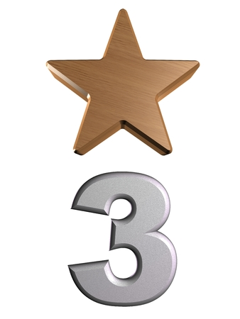 rate star number 3 3d