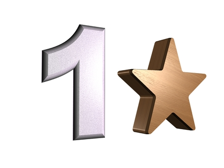rate star number 1 3d Stock Photo