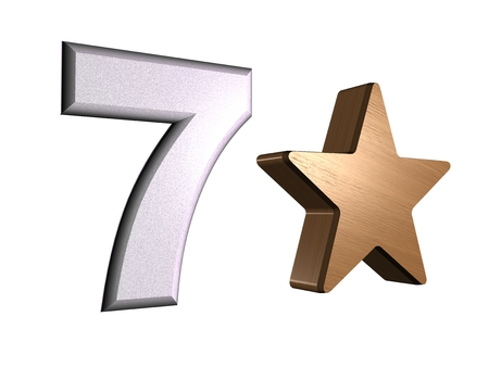 rate star number 7 3d Stock Photo