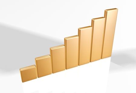 raytrace: 3d bar chart raytrace gold
