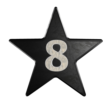 rate star number 8 3d Marble photo