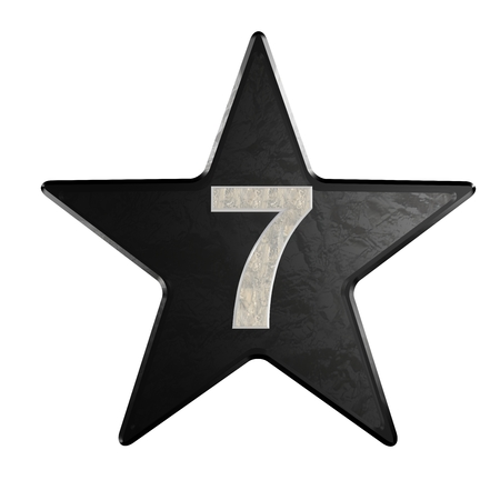 rate star number 7 3d Marble