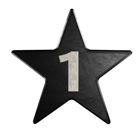 Numero di rate stella 1 Marmo 3d Archivio Fotografico - 25077534