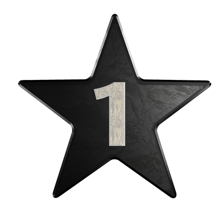 ways to go: rate star number 1 3d Marble Stock Photo