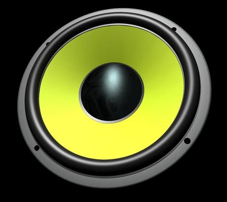 yellow speaker metal Stock Photo - 30701162