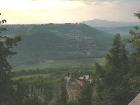 terni: Sunset on Parrano (Terni - Italy)