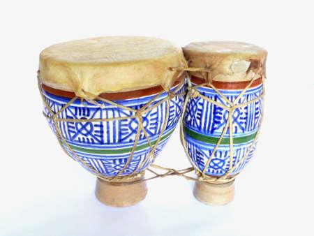bongos: Small ceramic double bongos from Morocco