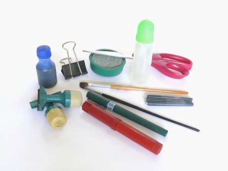implements: Office supplies and writingdrawing implements Stock Photo
