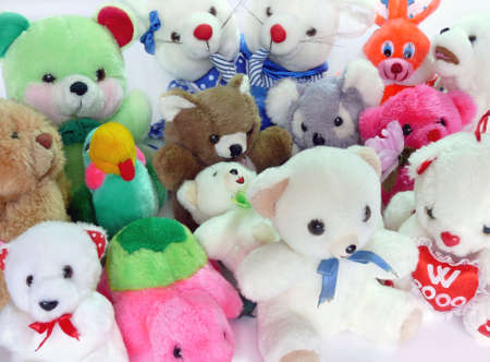 Group of various fluffy toys