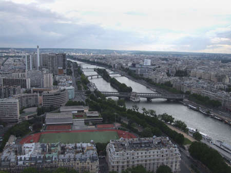 trocadero: Aerial view of Paris city from Eiffel tower