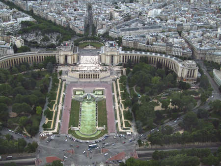 Aerial view of Paris city from Eiffel tower Stock Photo - 3913150
