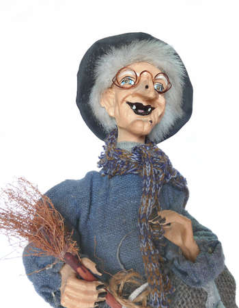 lurid: Plastic Halloween old witch close-up Stock Photo