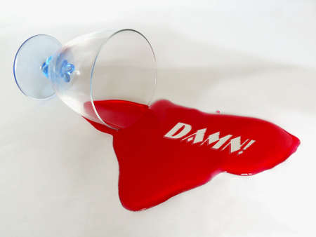 DAMN test message in spilt liquid Stock Photo - 4009635