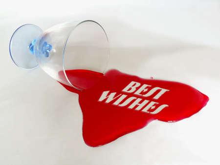 BEST WISHES test message in spilt liquid Stock Photo - 4009648