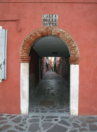 A characteristic Venice alley Stock Photo - 4058831