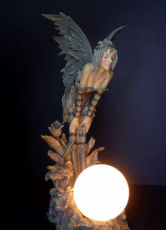 pr�voyance: Attractive f�e poup�e lampe Banque d'images