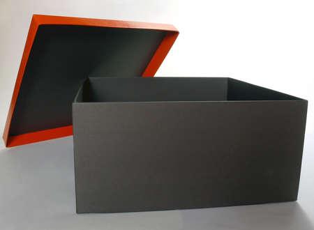 Black empty gift box isolated over white Stock Photo - 4193856