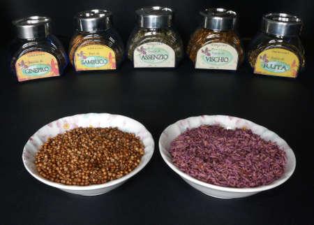herbology: Herbalist preserves Stock Photo