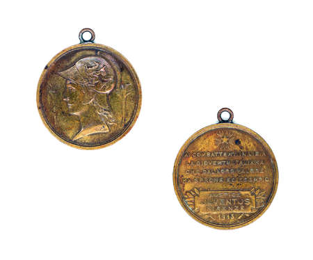recompense: Italian bronze medal for Libya campaign on 1913