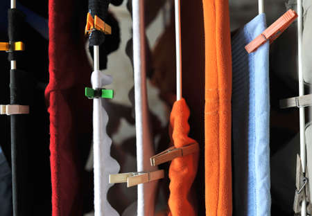 Clotheshorse with laundry photo