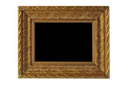 matted: Golden wood frame