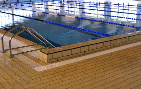 trial indoor: Inside of a clear junior sport swimming pool