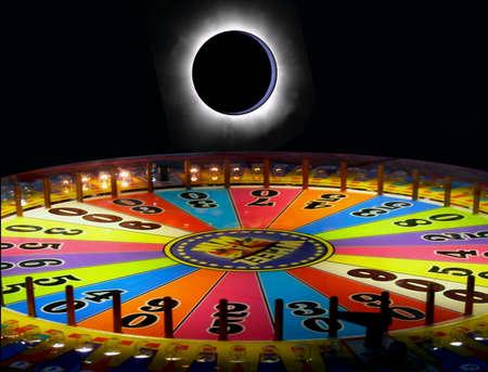 roue de fortune: R�sum�: Eclipse et la roue de la fortune Banque d'images