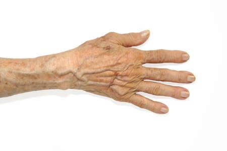centenarian: A cerca de una antigua edad de la mujer de ojos marrones
