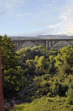 lucania: Railway bridge, Vallo della Lucania, Salerno, Italy