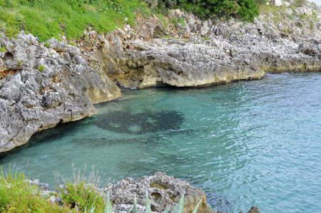 limpid: Limpid water along the notched coast, south Italy