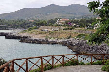 seacoast: Promenade along Marina of Camerota seacoast, Italy