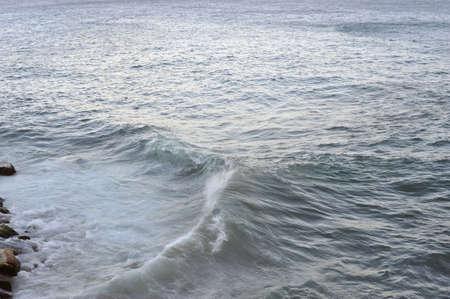 limpid: Waves  against coastline, Mediterranean, Italy